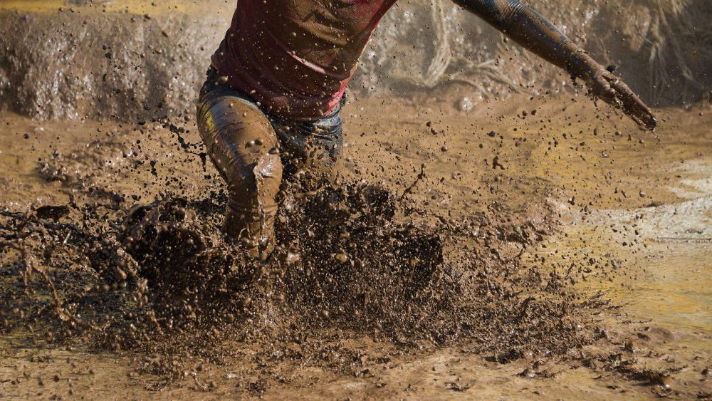 Getting comfortable being uncomfortable. A mud run is an uncomfortable challenge.